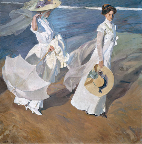 Walk on the Beach (Paseo a orillas del mar) 1909. Sorolla Museum, Madrid