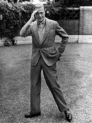 Duke of Windsor in checked jacket and turned up trousers