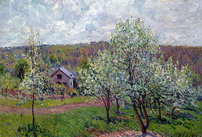 Alfred Sisley, Spring in the Environs of Paris, Apple Blossom, 1879, Musée Marmottan Monet, Paris, France