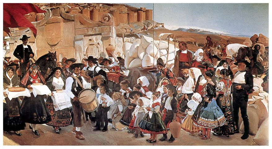 Castilla or La fiesta del pan, 1913. First to be completed of Vision of Spain, 14 murals at the Hispanic Society in Manhattan.