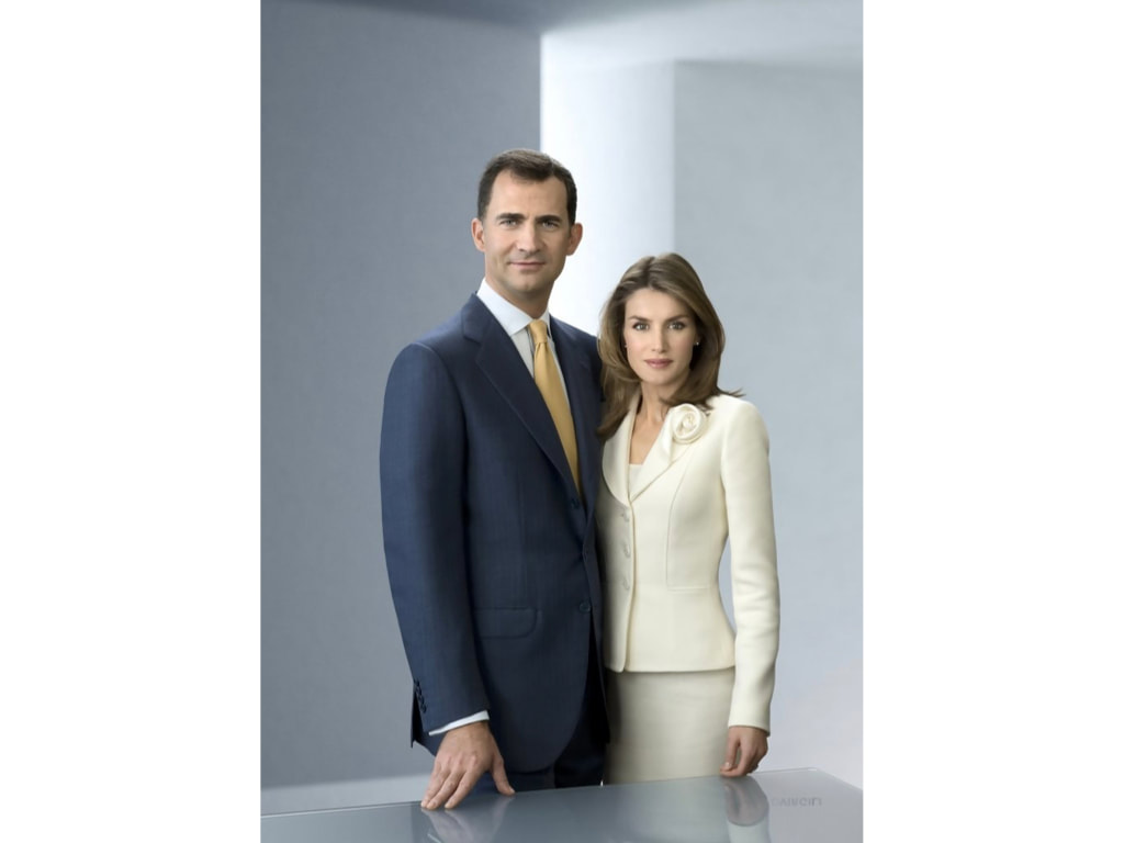 Queen Letizia official portrait with Prince Felipe VI 2010