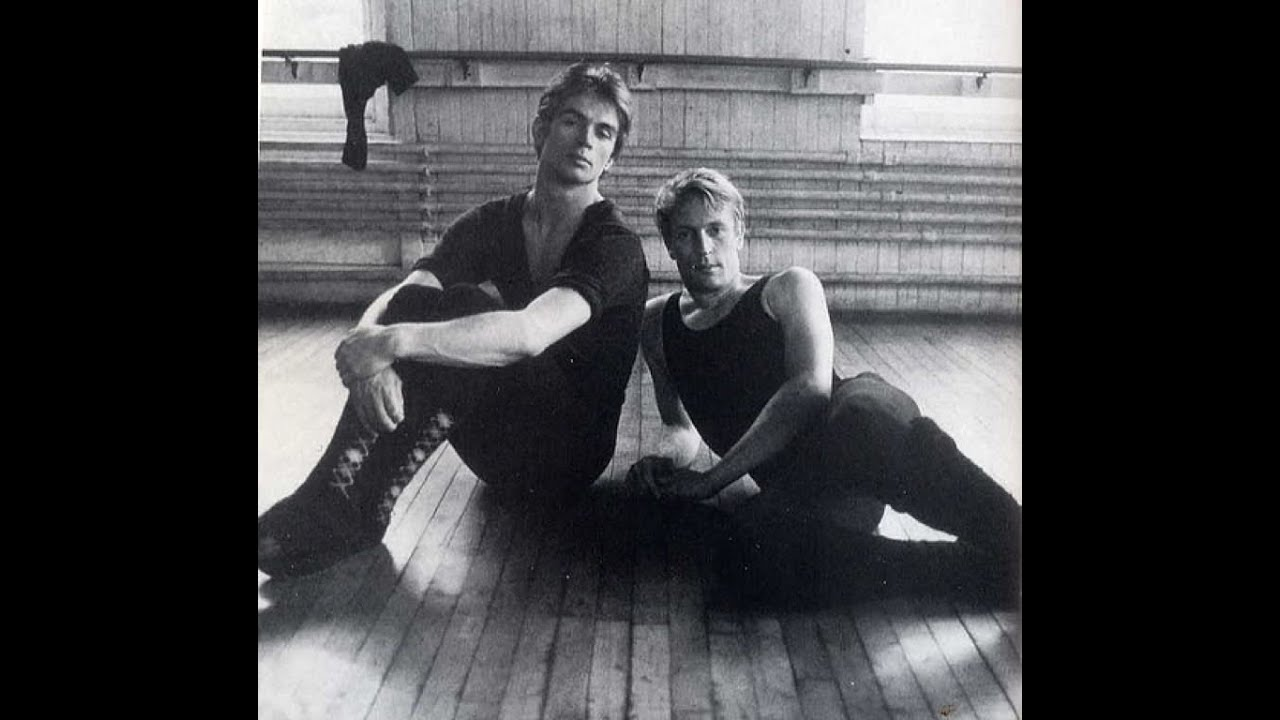 Rudolf Nureyev with Danish ballet dancer Erik Bruhn