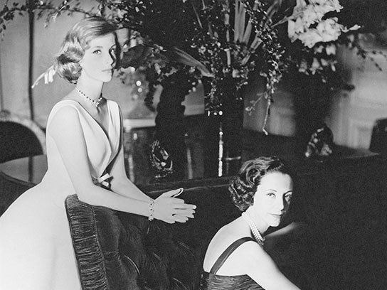Dolores Guinness with her mother Gloria Guinness