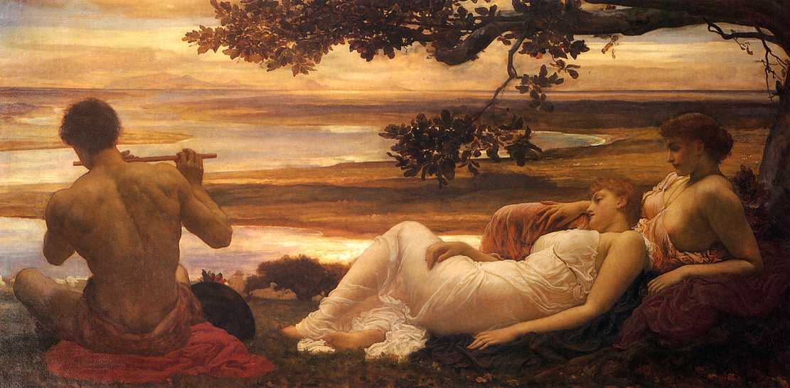 Idyll by Frederic Leighton 1880-1881