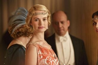 Lily James of Downton Abbey series