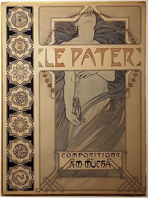 Cover of Le Pater (1899) by Alphonse Mucha