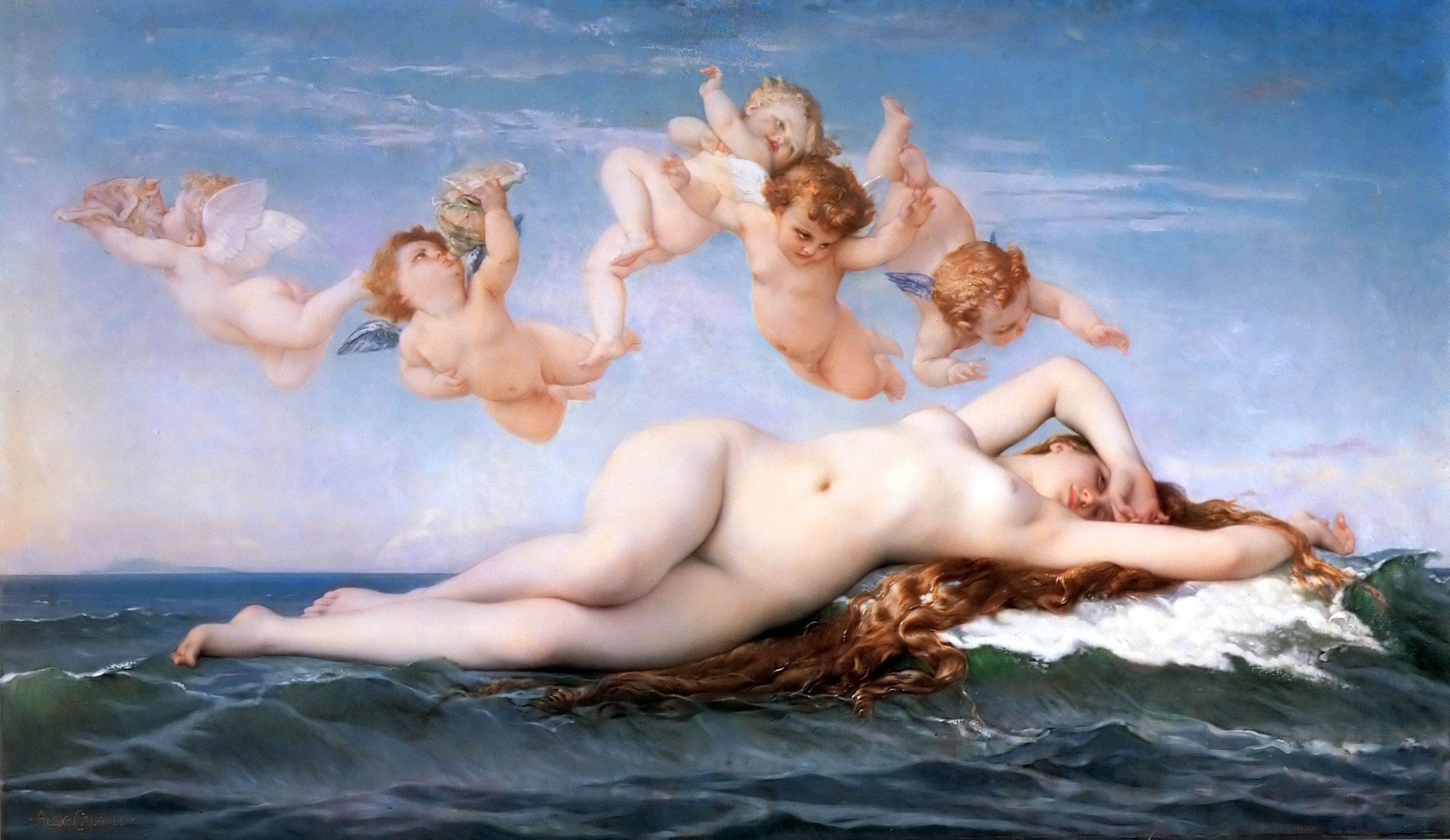 1863 Alexandre Cabanel - The Birth of Venus
