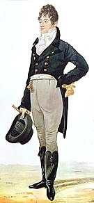 caricature of Brummell by caricaturist Richard Dighton, 1805