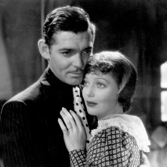 Clark Gable with Claudette Colbert in It Happened One Night (1934)