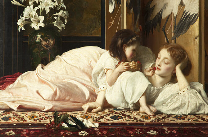 Mother and Child, (1864-5) by Frederic Leighton