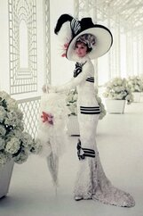 Audrey Hepburn in musical film my fair lady of 1964, costume designed by Cecil Beaton