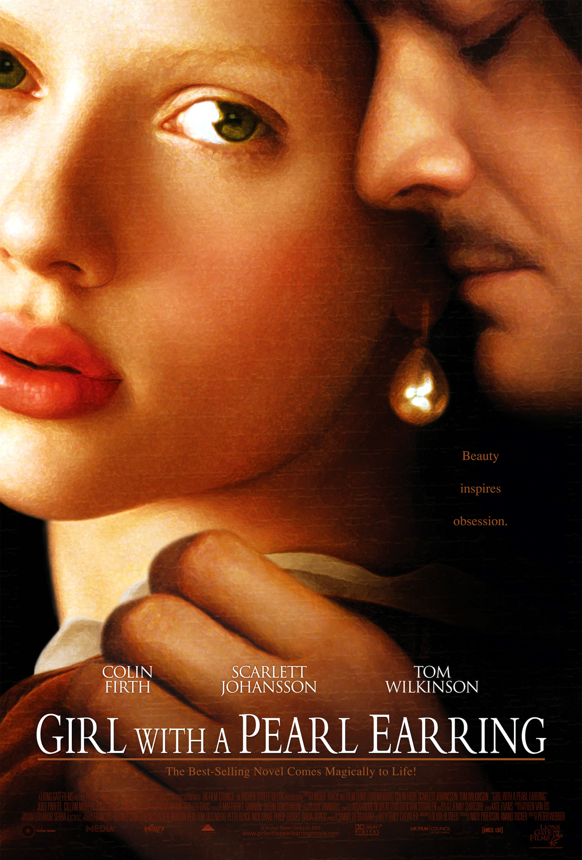 Film poster of Girl with pearl earring