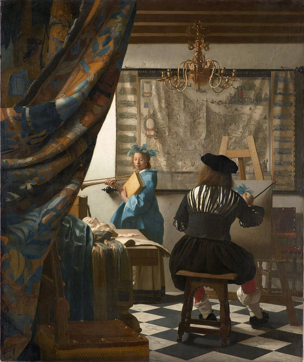 Vermeer's Art of Painting or The Allegory of Painting (c. 1666-1668)