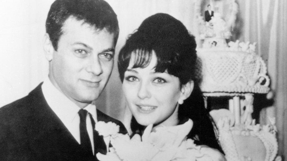 Christine Kaufmann with her first husband Tony Curtis