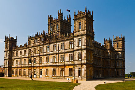 Highclere Castle, Hampshire, the main location for both the series and film of Downton Abbey