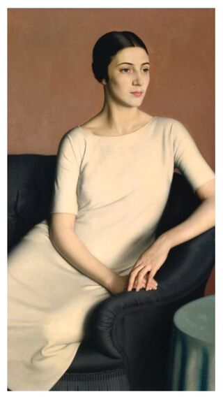 Marguerite Kelsey in white dress by Meredith Frampton, 1928, Tate Gallery, London