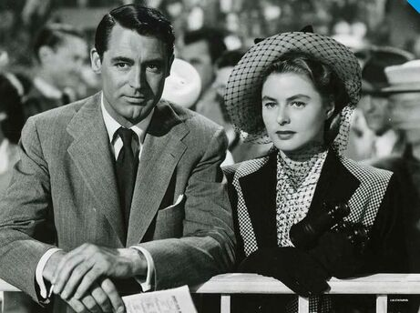 Ingrid Bergman and Cary Grant in film Notorious (1946)
