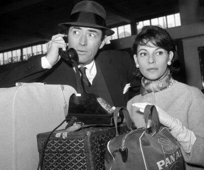 Gregory Peck with his second wife Véronique Passani (1932-2012), 1950s