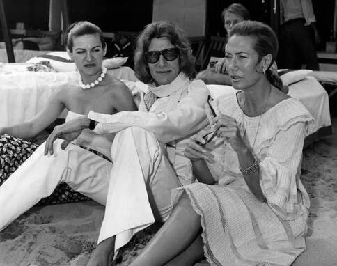 Paloma Picasso with Yves Saint Laurent and Helene Rochas