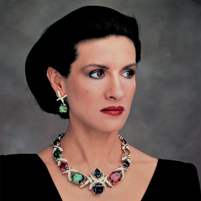 Paloma Picasso the designer of Tiffany Co.
