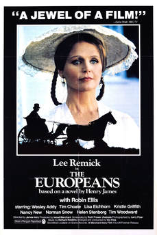 elegant film poster the europeans 1979 directed by James Ivory