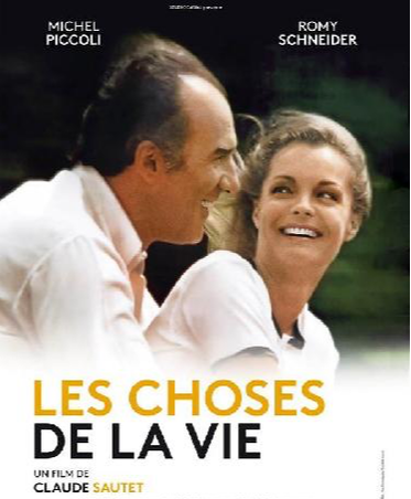 french film les choses de la vie 1970 poster played by romy schneider and michel piccoli directed by claude sautet
