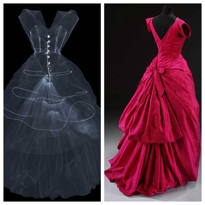 Silk taffeta evening dress, Balenciaga, 1954. Museum no. T.427-1967. © Victoria and Albert Museum, London.