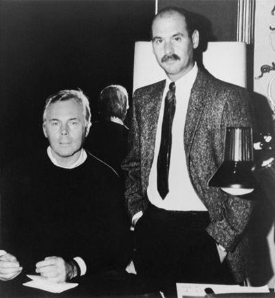 Giorgio Armani with his life and business partner Sergio Galeotti