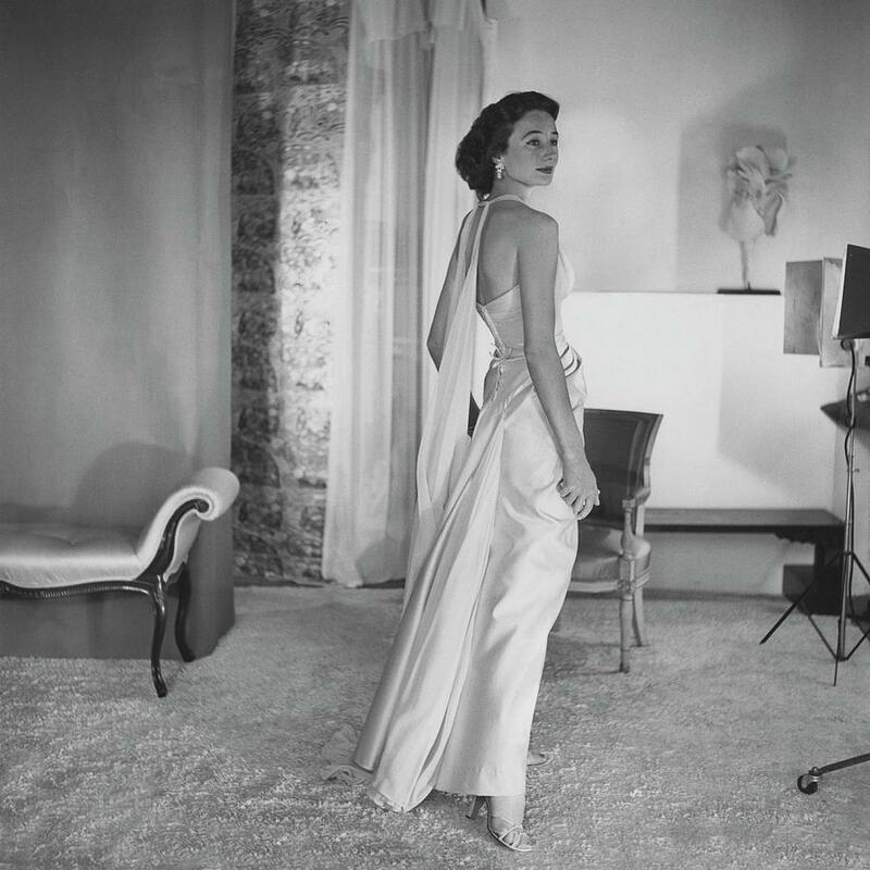 jacqueline de ribes wearing dress designed by jean desses, photo by horst p. horst