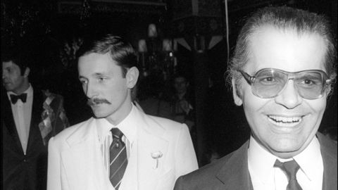 Karl Lagerfeld with Jacques de Bascher, 1970s
