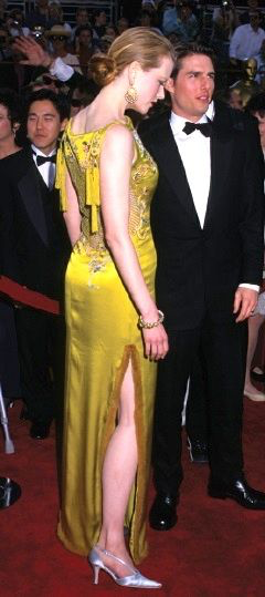 Nicole Kidman in Christian Dior Charmeuse evening gown designed by John Galiano for 1997 Oscar ceremony