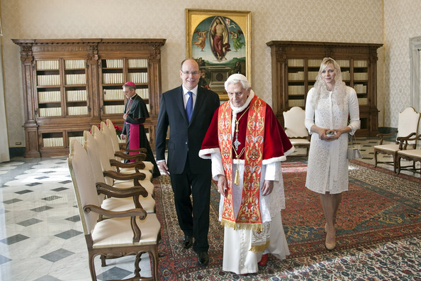 Charlene of Monaco was the first Monaco princess to use the Le privilège du blanc (privilege of the white) granted to her by Pope Benedict XVI on 1 January 2013.