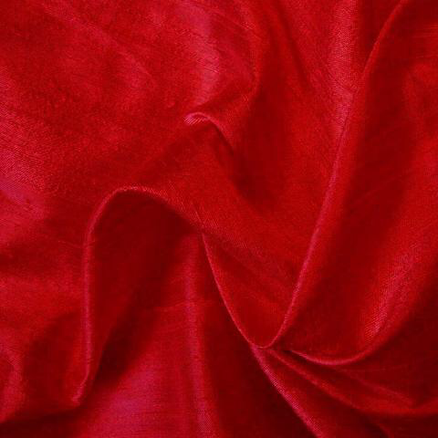 Elegant fabric Silk dupioni red