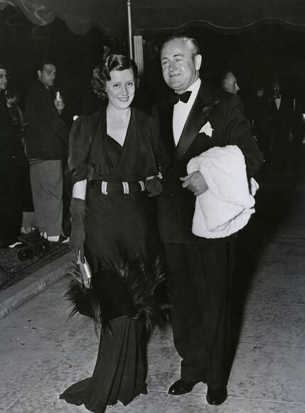 Irene Dunne with her husband Francis Griffin