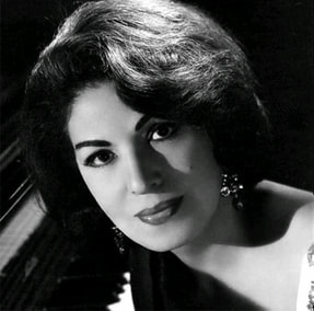 portrait of Consuelo Velázquez  (1916-2005)in black and white