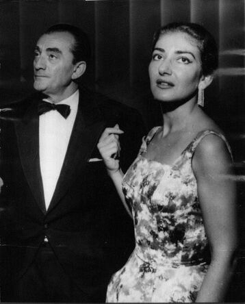 Luchino Visconti with Maria Callas
