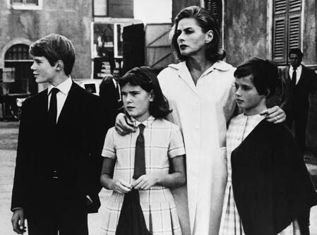 Ingrid Bergman with her children with Roberto Rossellini: Robertino Rossellini, Ingrid Rossellini and Isabella Rossellini