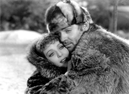 Loretta Young and Clark Gable in film The Call of the Wild, 1935