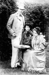 The most elegant Irish man Oscar Wilde with his wife Constance and their son Cyril 1892