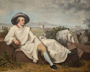 Georgi Takev Goethe in the Roman Campagna 1996 Oil on canvas © Museo Casa di Goethe
