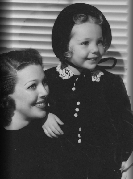 Loretta Young with her daughter Judith Lewis