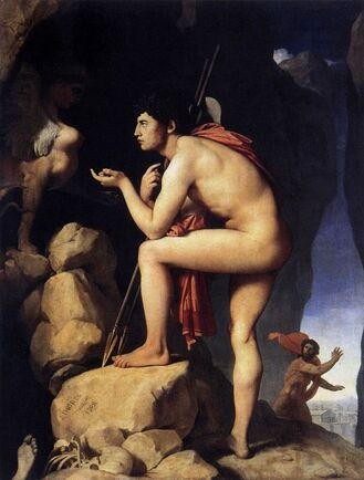 Oedipus and the Sphinx (1808), Louvre