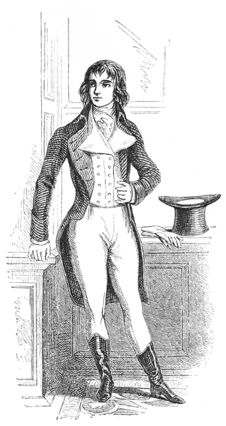 Ilustration of Beau Brummell in Harpers
