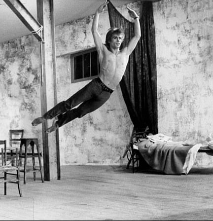 Russian ballet dancer Rudolf Nureyev 1966 in rehearsals for ballet The Young Man and Death 1966