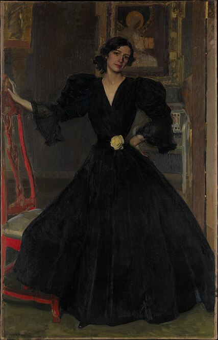 Clotilde con traje negro(Señora de Sorolla in Black), 1906, Joaquín Sorolla,Metropolitan Museum of Art, New York City
