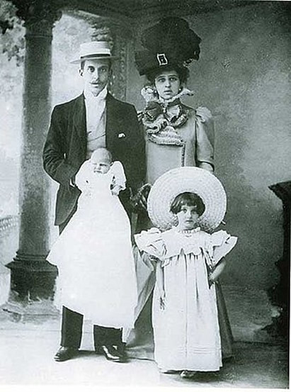 Ignazio Florio Jr., Donna Franca and their first children, Giovanna (1893-1902) and Ignazio