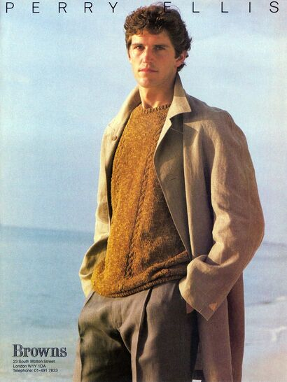 Elegant designer and icon Perry Ellis collection Sprin 1983