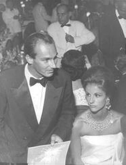 Dolores Guinness with Karim Aga Khan in Monte Carlo, 1966