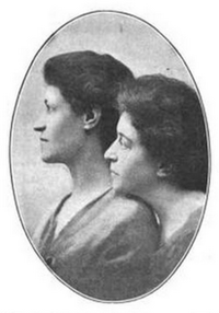 Rose and Ottilie Sutro sisters portrait