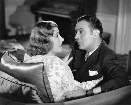 Irene Dunne with Charles Boyer in film Love Affair(1939)